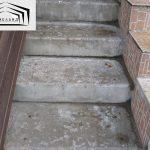 Истертости поверхности бетонных ступеней крылец