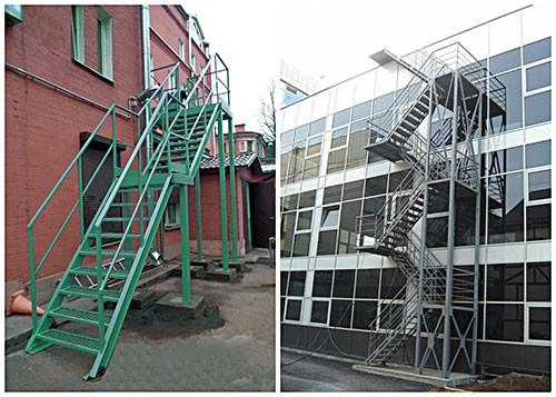 Испытания стационарной лестницы