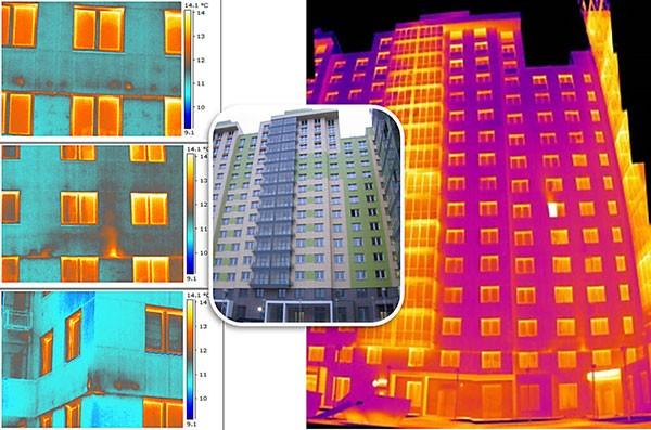 Обследование тепловизором многоквартирного дома