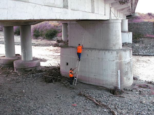 Обследование мостовых опор